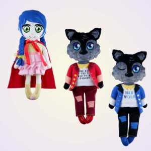 Little red riding hood doll machine embroidery pattern design project diy 4
