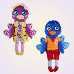 Turkey girl and boy doll ith machine embroidery design pattern project