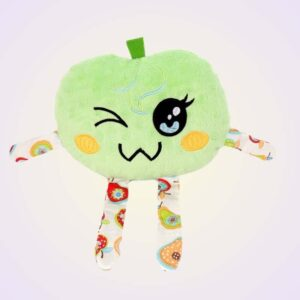 Apple kawaii stuffed toy ith machine embroidery design pattern project