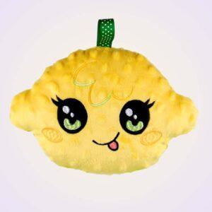 Lemon kawaii stuffed toy ith machine embroidery design pattern project