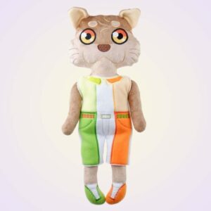 Otter boy doll ith machine embroidery design pattern project