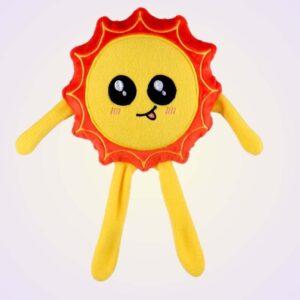 Sun kawaii stuffed toy ith machine embroidery design pattern project