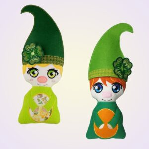 St. Patrick's day gnome cute stuffie machine embroidery design pattern ith