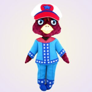 Eagle doll ith machine embroidery design pattern project