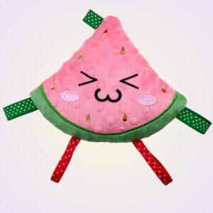 Watermelon kawaii stuffed toy ith machine embroidery design pattern project