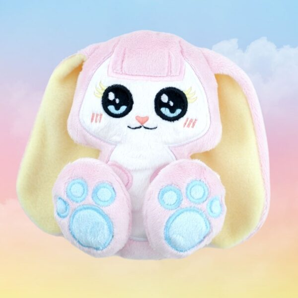 Bunny machine embroidery design in the hoop pattern project soft toy diy
