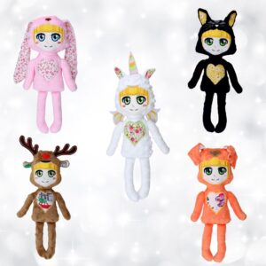 Dog puppy bunny rabbit cat kitten kitty reindeer moos unicorn rainbow doll machine embroidery in the hoop project pattern design
