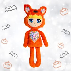 Halloween pajama warewolf doll machine embroidery in the hoop project pattern design